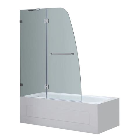 48 inch bathtub home depot aston soleil 48 in x 58 in completely frameless hinge