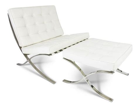 barcelona ottoman white barcelona chair and ottoman white
