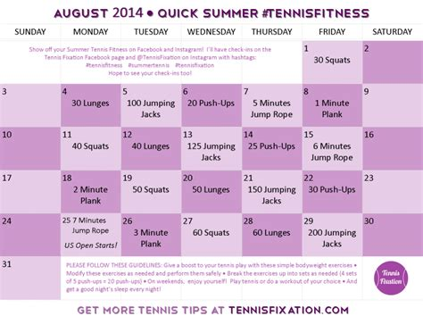 and easy summer tennis fitness