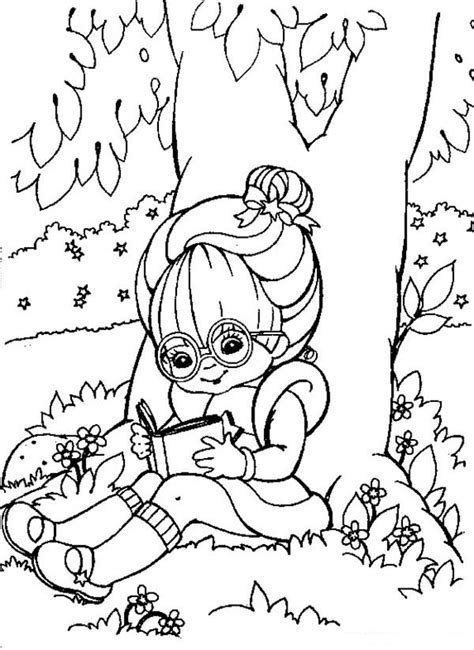 coloring page girl reading reading book coloring page coloring home