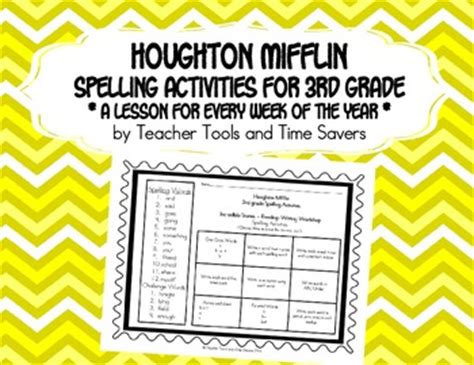 spelling and vocabulary teachers 1407141864 houghton mifflin 3rd grade spelling activities by teacher tools and time savers teachers pay