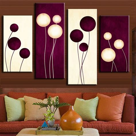 pcsset abstract wall art simple purple white circles