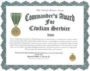 commander s award for civilian service medal display