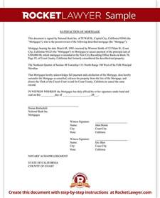 Mortgage Payoff Letter Template by Satisfaction Of Mortgage Form Release Of Mortgage