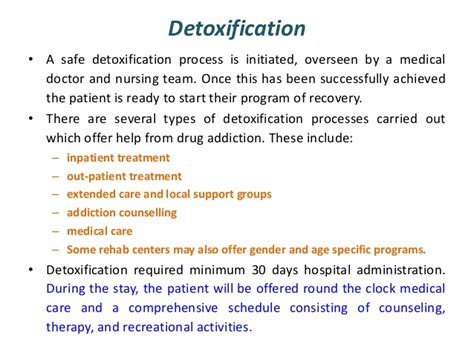 Addiction Detox Process by Treatment And Rehabilitation Of Addiction