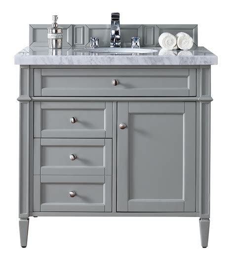 Contemporary 36 Inch Single Bathroom Vanity Gray Finish 36 Bathroom Vanities