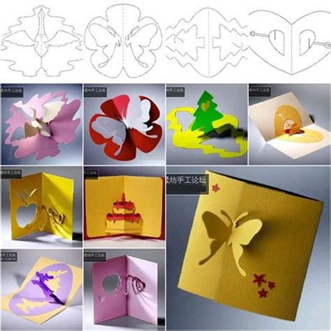 3d pop up card templates cool creativity diy 3d kirigami pop up greeting cards