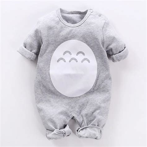 Totoro Jumpsuit totoro sleeve jumpsuit in grey for baby