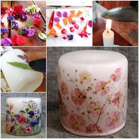 candele decoupage how amazing are these decoupage flower candles