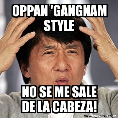 Meme Jackie - meme jackie chan oppan gangnam style no se me sale de