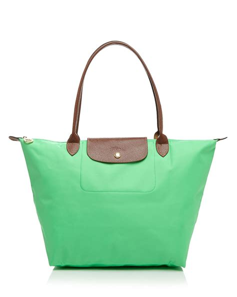 Le Pliage Green Msh lyst longch tote le pliage large shoulder in green