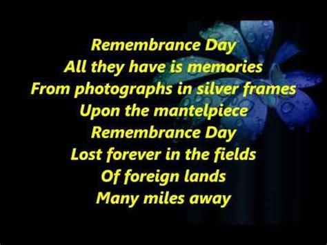 poppy pappy day lyrics b movie remembrance day with lyrics youtube peace