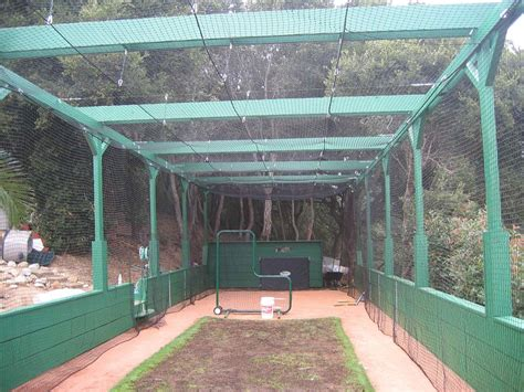 how to build a backyard batting cage could we have a mesh batting cage idea board for