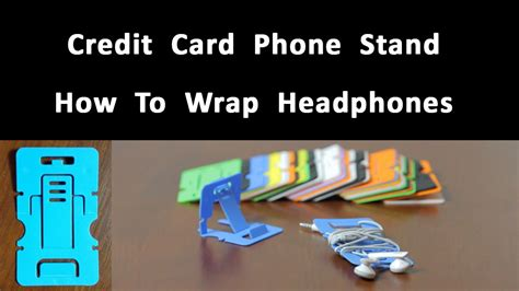 credit card phone stand template credit card phone stand how to wrap headphones
