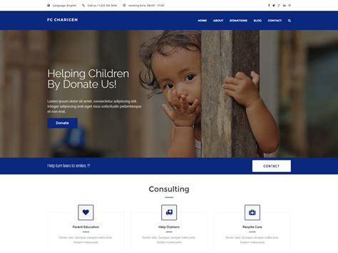 Fc Charicen Free Charity Website Template Freemium Download Free Charity Website Templates