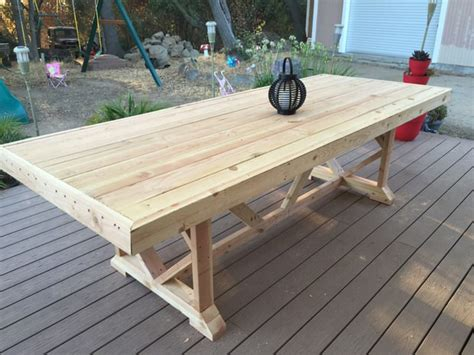 diy dining table ideas diy outdoor dining tables the garden glove