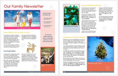 newsletter layout templates free family newsletter template 3 printable layouts