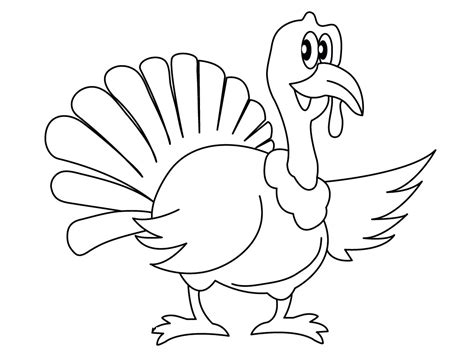 turkey color page free printable turkey coloring pages for