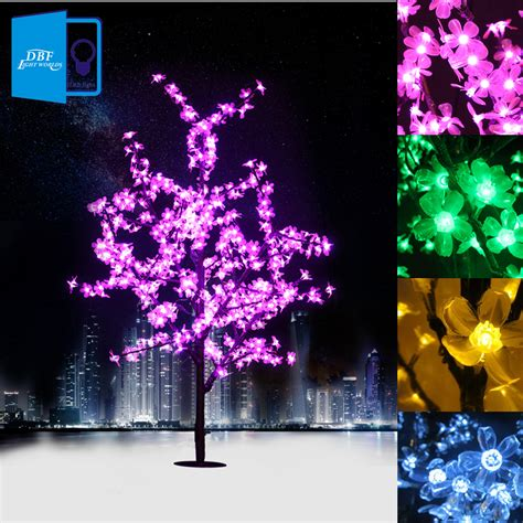 1 5m 1 8m led crystal cherry blossom tree lights christmas