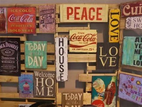 imagenes retro cuadros carteles cuadros vintage palabras retro madera reciclada