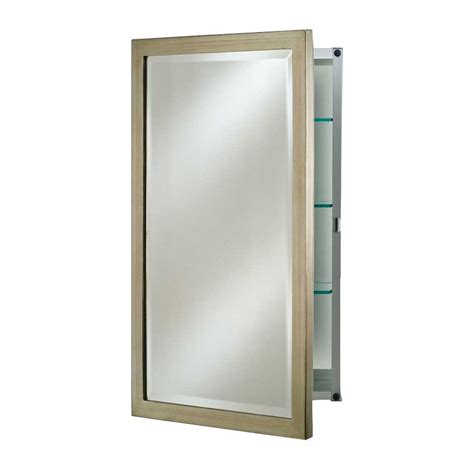 afina 24 quot basix mirrored medicine cabinet brushed silver