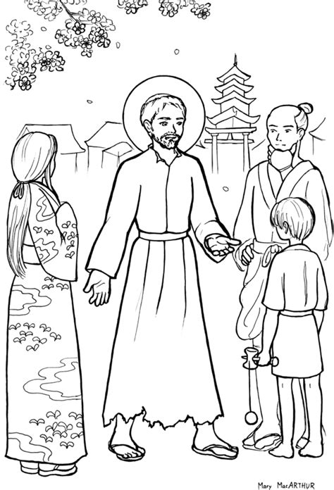 The Catholic Illustrator S Guild 11 18 12 11 25 12 St Coloring Page Catholic