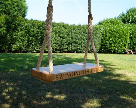handmade swings wooden childrens swings makemesomethingspecial co uk