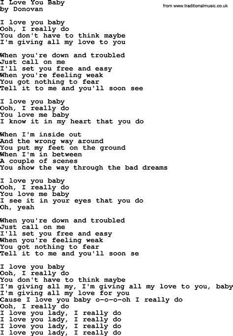 i you song donovan leitch song i you baby lyrics