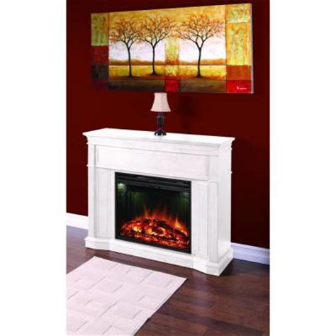 greenway arden 48 5 in electric fireplace mantel in white