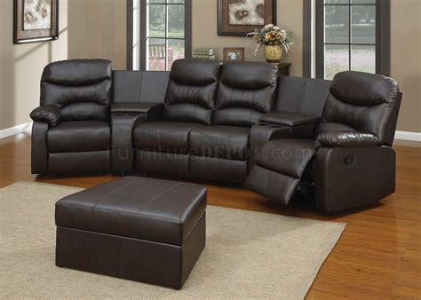 home theater sectional sofa set black bonded leather match modern home theater sectional