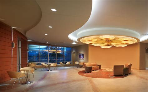 nice curve dropped ceiling  cove lighting healthcare