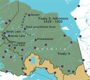 treaty map of canada history treaty period