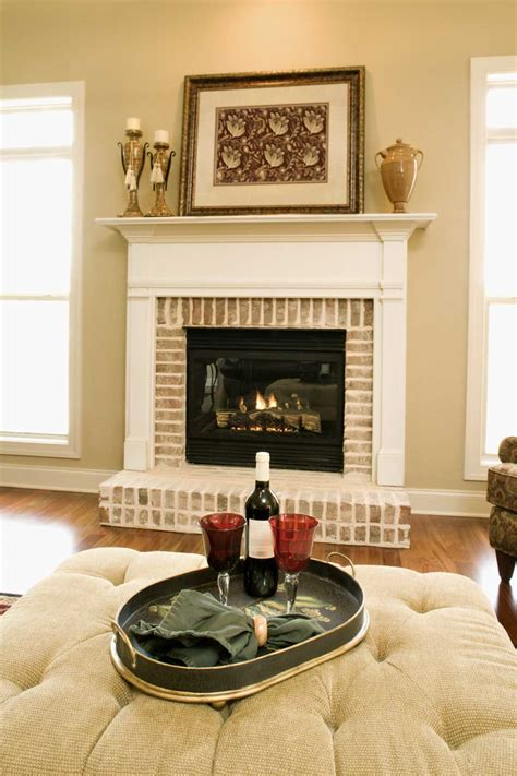 fireplace with white mantle brick fireplace white mantle fireplace design ideas