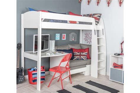 white metal loft bed with desk metal loft bed with desk