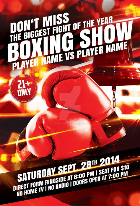 boxing poster template free boxing flyer template with 2 variations by snipescientist