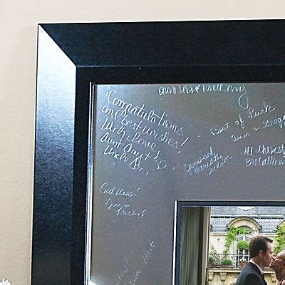 Picture Frame Signature Mat by Signature Picture Frame With Engraved Photo Mat Wedding Collectibles