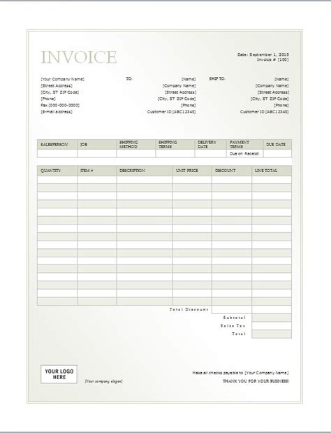 cash invoice template printable word excel invoice