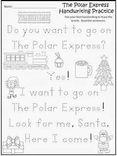 printable version of polar express free the polar express handwriting practice freebie for