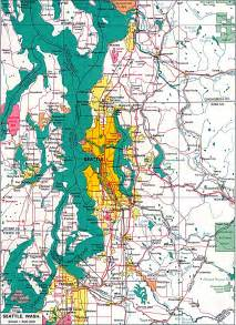Seattle Area Map by Wayne Mahle Map Of Seattle And North