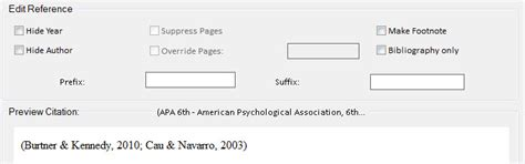 modify footnote text style write n cite advanced features and options
