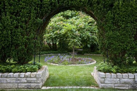 The Door In The Hedge by Japanese Yews And Yew Bushes