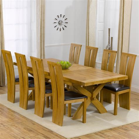 Avignon Solid Oak Extending Dining Table And 8 Arizona 8 Seater Dining Table And Chairs