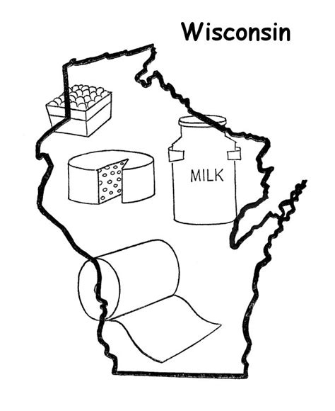Wisconsin Coloring Pages wisconsin badgers free coloring pages