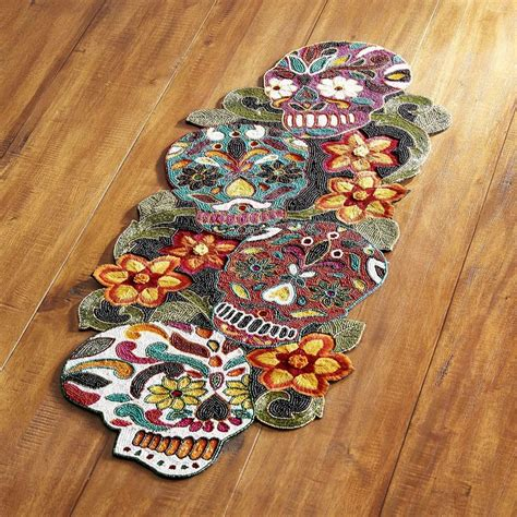 pier one runner pier 1 imports dia de los muertos beaded runner