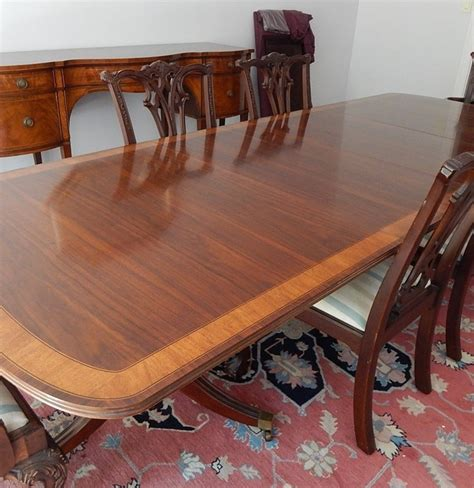 Mahogany Dining Table And 6 Chairs Mahogany Dining Table And Six Chairs By White Furniture Co Ebth