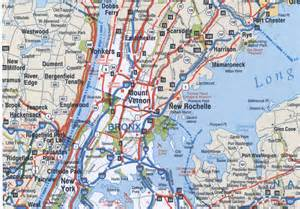 Map Of New York Bronx by Bronx Highway Map