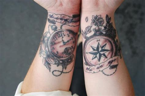 wrist watch tattoo 74 awesome compass wrist designs