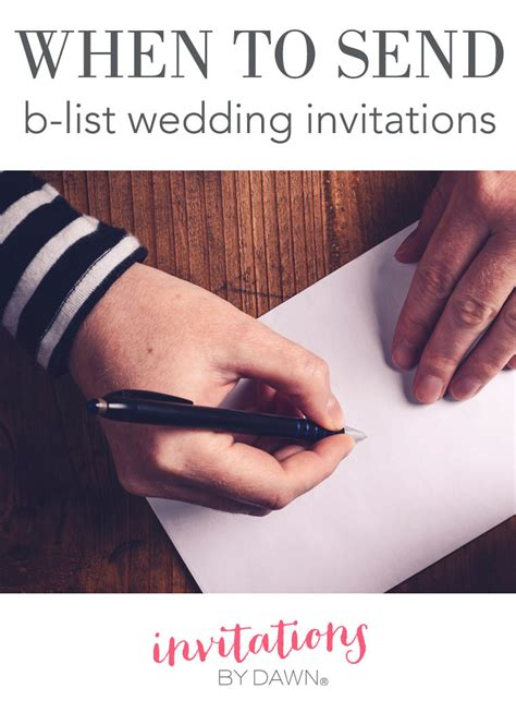 B List Wedding Invites when to send b list wedding invitations invitations by