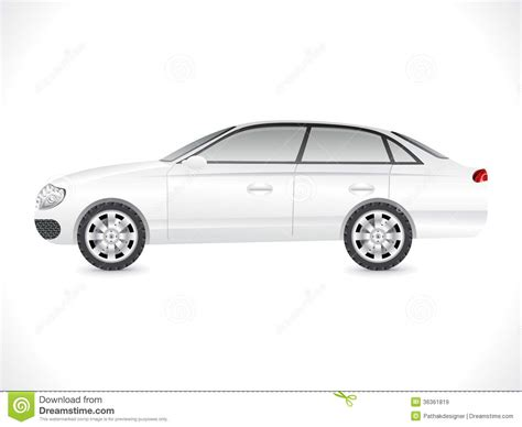 glossy white sedan car template stock vector image 36361819
