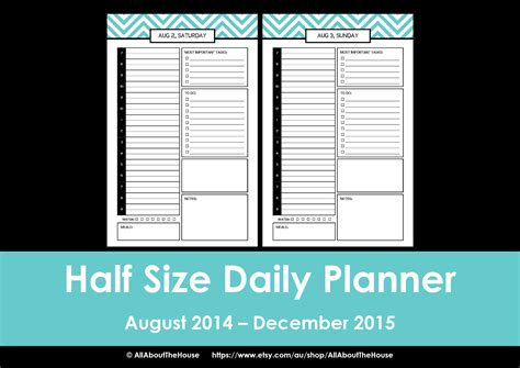 free printable planner half size new half size printable planners for 2015